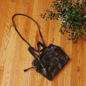 Anne Klein Leather Black Crossbody Bag